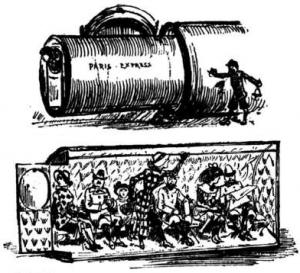 Pneumatic Tube Train