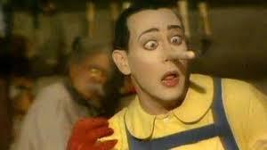 Pinocchio tells a lie.